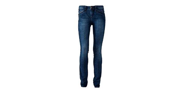 Dámske modré skinny džínsy Ruby London