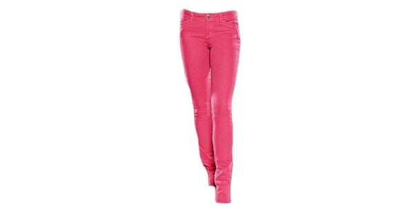 Dámske fuchsiové skinny džínsy Ruby London