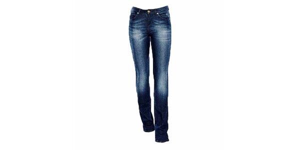 Dámske straight-leg modré džínsy Ruby London