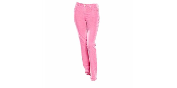 Dámske straight-leg ružové džínsy Ruby London