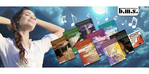 Príjemná relaxačná hudba na 8+1 CD
