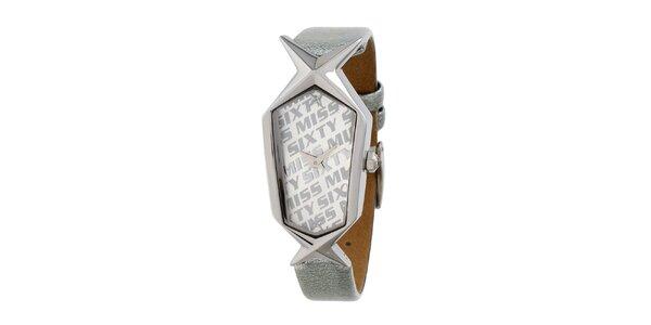 Dámske strieborné hodinky s hviezdičkou Miss Sixty