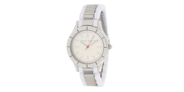 Dámske bielo-strieborné analogové hodinky Miss Sixty