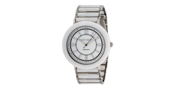 Dámske biele hodinky s keramickými prvkami Miss Sixty