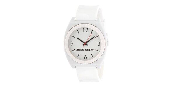 Dámske biele hodinky Miss Sixty s okrúhlym analogovým ciferníkom
