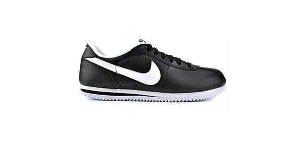 Pánske čierne kožené tenisky Nike