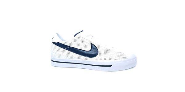 Pánske modro-biele kožené tenisky Nike