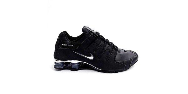 Pánske čierne športové tenisky Nike Shox