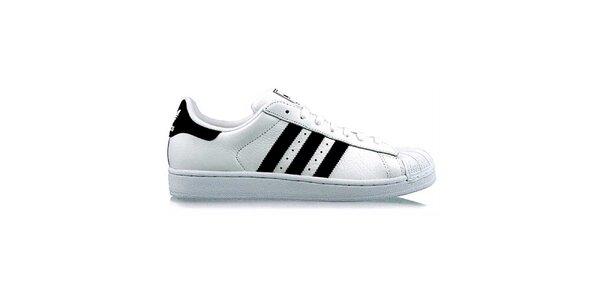 Pánske bielo-čierne tenisky Adidas