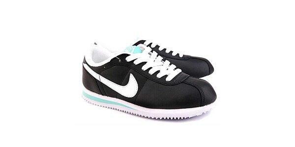 d387dfed3841 Dámske čierno-biele tenisky s modrými detailmi Nike