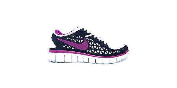 Dámske fialovo-čierne bežecké topánky Nike