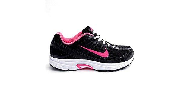 Dámske čierno-ružové bežecké tenisky Nike