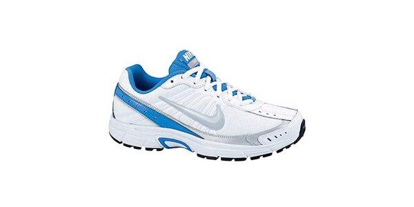 Dámske bielo-modré bežecké tenisky Nike