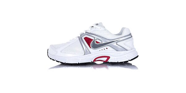 82f6175f9c8c Dámske bielo-strieborné bežecké topánky Nike