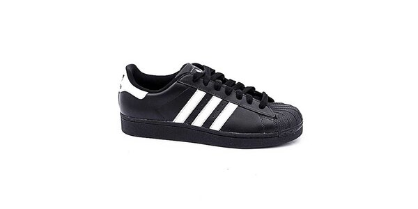 Detské čierno-biele nízke tenisky Adidas