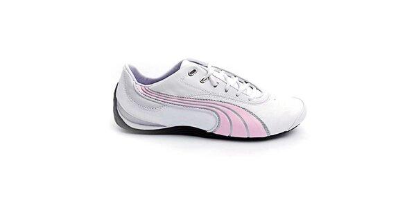 Dámske bielo-ružové športové topánky Puma