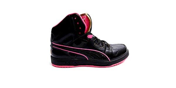 Dámske čierno-ružové členkové topánky Puma