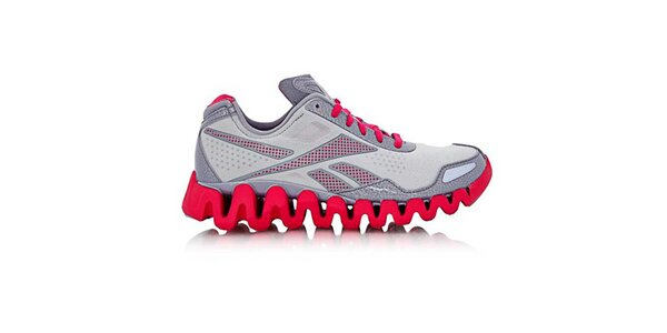 Dámske šedo-ružové bežecké topánky Reebok