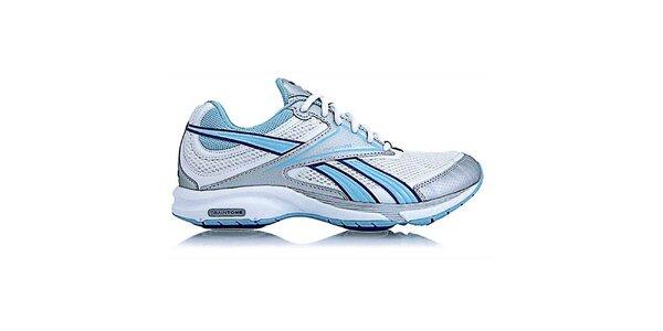 Dámske bielo-modro-strieborné fitness topánky Reebok