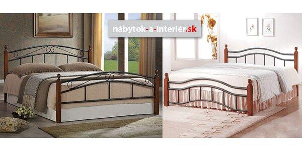 Dizajnové kovové postele aj s matracom
