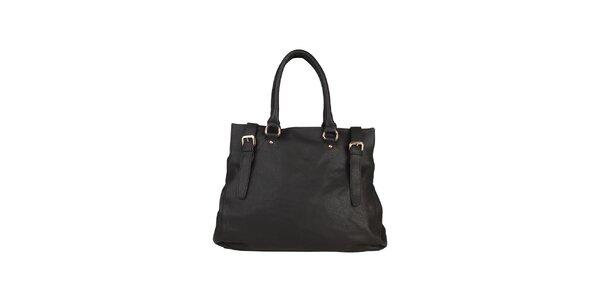 Dámska čierna kabelka s remienkami Dudlin