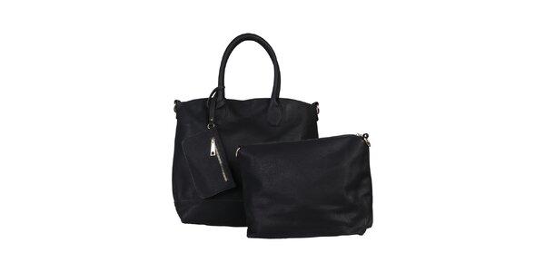 Dámska čierna kabelka s vyberateľnou taštičkou Dudlin