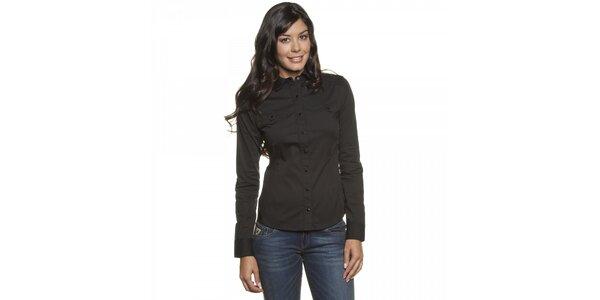 Dámska čierna košela Lois s dlhým rukávom