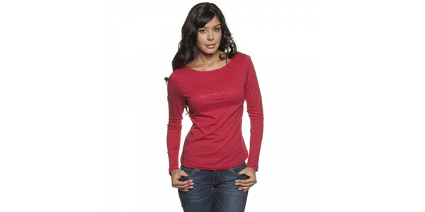 Dámske červené tričko Lois s dlhým rukávom