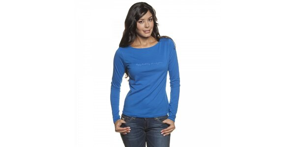 Dámske žiarivo modré tričko Lois s dlhým rukávom