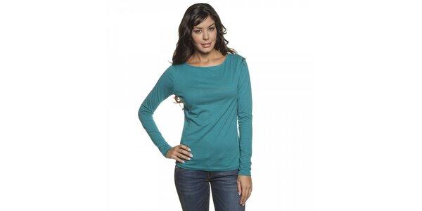 Dámske tyrkysovo modré tričko Lois s dlhým rukávom