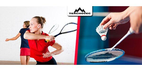 Squash alebo prenájom športovej haly na 1 hodinu