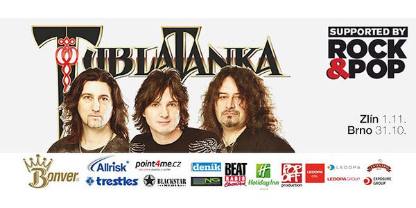 2 vstupenky na koncert Tublatanky