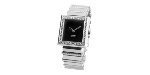 Dámske oceľové hodinky s hranatým ciferníkom Esprit
