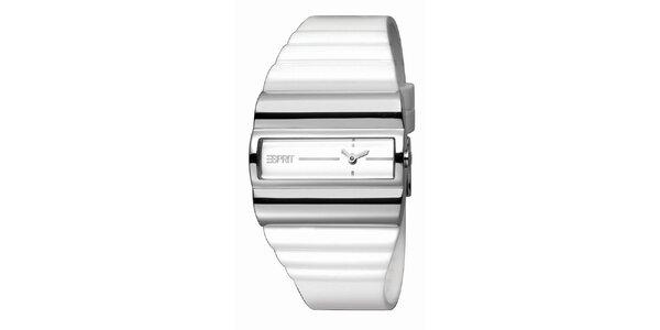Dámske bielo-strieborné hodinky Esprit