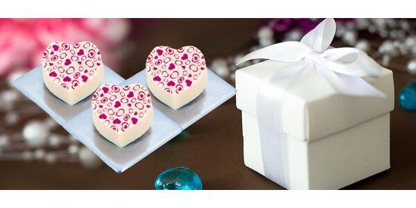 3,85 eur za valentínske pralinky v darčekovom balení so zľavou 50%