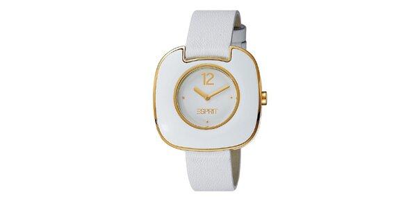 Dámske bielo-zlaté hodinky Esprit