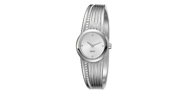 Dámske oceľové hodinky so sofistikovaným náramkom Esprit