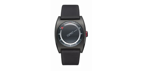 Dámske čierne futuristické hodinky Esprit