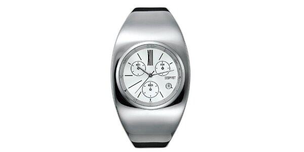 Dámske strieborno tónované futuristické hodinky Esprit