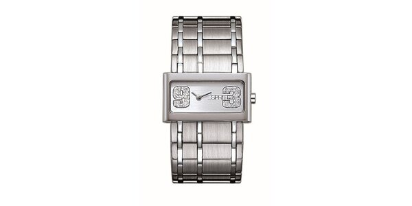 Dámske leštené analogové hodinky s kryštálmi Esprit