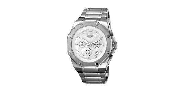 Pánske strieborné hodinky s oceľovým remienkom Esprit