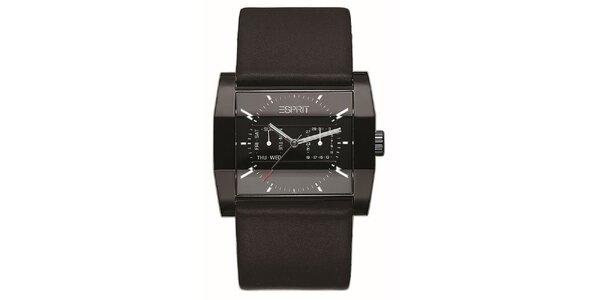 Pánske čierne analogové hodinky Esprit