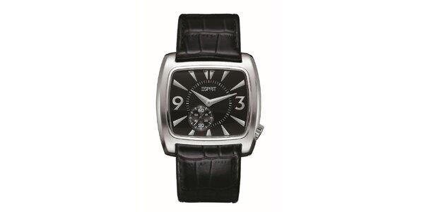 Pánske strieborné zaoblené hodinky Esprit