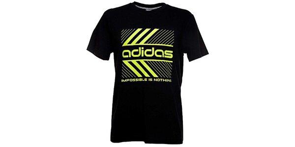 Pánske čierne tričko Adidas