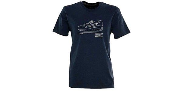Pánske tmavo modré tričko s obrázkom topánky Nike