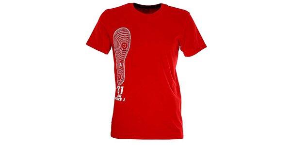 Pánske červené tričko s obrázkom Nike
