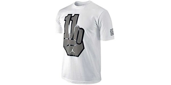 Pánske biele tričko s potlačou Jordan