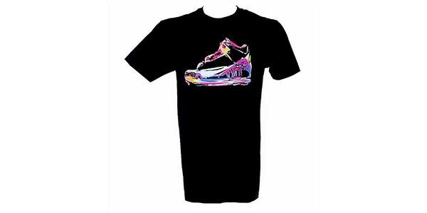Pánske čierne tričko s farebnou potlačou Jordan