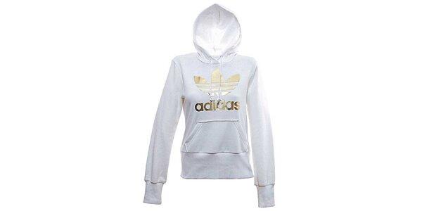 Dámska bielo-zlatá mikina Adidas