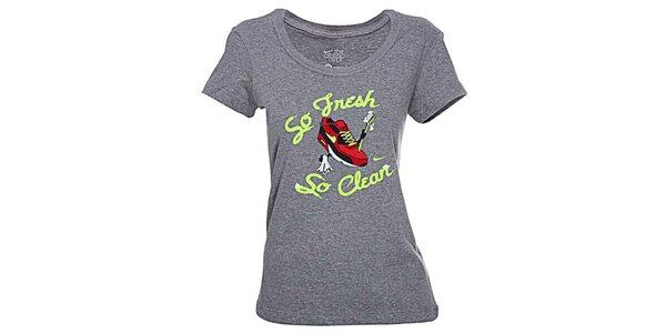 Dámske šedé tričko Nike